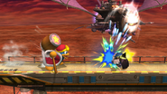 Rey Dedede usando tragar en SSB4 (Wii U)