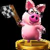 Trofeo de Cerdito consejero SSB4 (Wii U)