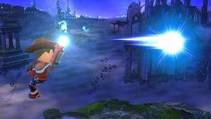 Ataque aéreo hacia adelante Tirador Mii SSB4 Wii U
