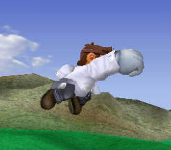 Ataque aéreo hacia adelante de Dr. Mario SSBM