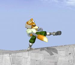 Ataque fuerte lateral de Fox SSBM