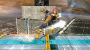 Ataque normal de Captain Falcon (3) SSB4 (Wii U)