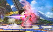 Karateka Mii usando Patadas relampago SSB4 (3DS)