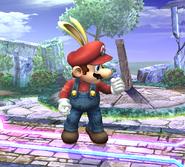 Mario con una capucha de conejo SSBB