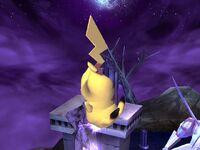 Ataque aéreo inferior Pikachu SSBB