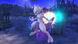 Ataque aéreo normal Mewtwo (1) SSB4 (Wii U)