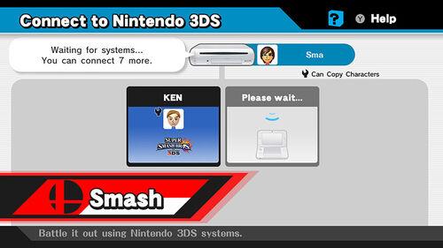 Menu 3DS SSB4 (Wii U)