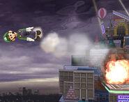 Misil verde con explosión SSBB