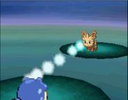 Spheal usando pistola de agua Pokémon Blanco