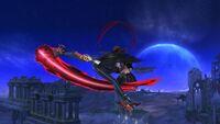 Ataque Aéreo Hacia Atrás Bayonetta SSB Wii U