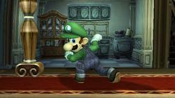 Ataque fuerte hacia abajo Luigi SSBB