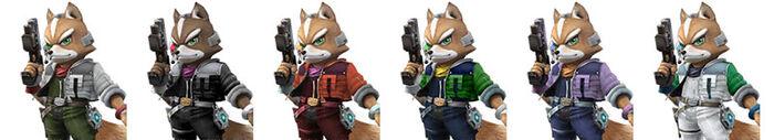 Paleta de colores de Fox SSBB