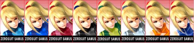 Paleta de colores de Samus Zero (JAP) SSB4 (3DS)