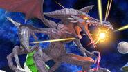 Ridley cargando su ataque especial normal SSBU