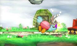 Bronto atacando a Greninja en Smashventura SSB4 (3DS)