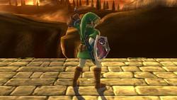 Burla superior de Link (3) SSB4 (Wii U)