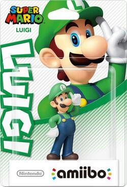 Embalaje del amiibo de Luigi (serie Mario)