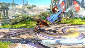 Lanzamiento hacia adelante Tirador Mii SSB4 Wii U