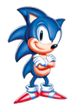 Pegatina Sonic clásico (Sonic The Hedgehog versión USA)