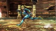 Samus Zero corriendo en Pirósfera SSB4 (Wii U)