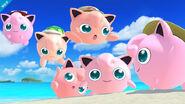 Varios Jigglypuff en Ciudad Delfino SSB4 (Wii U)