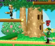 Fox y Link en su Pose T (SSB)