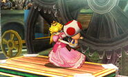 Peach usando Toad SSB4 (3DS)