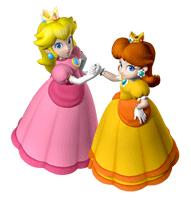 Pegatina Peach y Daisy SSBB