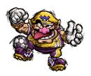 Pegatina de Wario Mario Smash Football SSBB