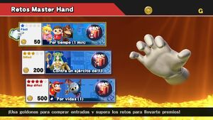 Retos Master Hand SSB4 (Wii U)