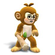 Artwork del traje y el gorro de mono en hombre