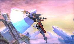 Ataque aéreo hacia atrás Lucina SSB4 (3DS)