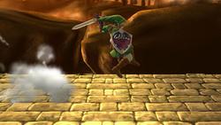 Ataque en carrera de Link (1) SSB4 (Wii U)