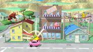Donkey Kong, Kirby, Pikachu y Yoshi en Onett SSB4 (Wii U)