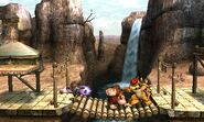 Fox, Bowser y Donkey Kong en el Valle Gerudo SSB4 (3DS)