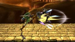 Lanzamiento delantero de Link SSB4 (Wii U)