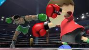 Little Mac y el Aldeano en el Ring de Boxeo SSB4 (Wii U)