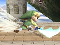 Ataque Smash lateral Toon Link SSBB (1)