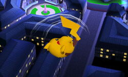 Ataque aéreo normal Pikachu SSB4 (3DS)
