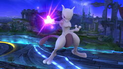 Burla hacia abajo Mewtwo (derecha) SSB4 (Wii U)