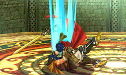 Lanzamiento hacia abajo Ike (1) SSB4 (3DS)