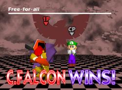 Pose de victoria de Captain Falcon (3-1) SSB
