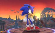 Sonic en el Campo de Batalla SSB4