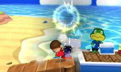 Ataque Smash hacia arriba Aldeano SSB4 (3DS)