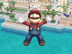 Ataque aéreo hacia abajo (4) Mario SSBB