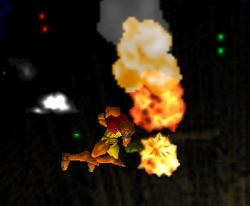 Ataque aéreo hacia adelante de Samus SSB