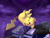 Ataque aéreo superior Pikachu SSBB