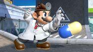 Ataque especial lateral de Dr. Mario en las Torres Merluza SSBU