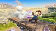 Espadachín Mii usando Tajo horizontal SSB4 (Wii U)