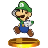 Trofeo de Paper Luigi SSB4 (3DS)